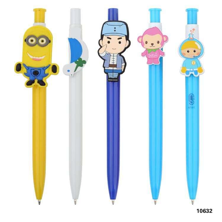Wholesale custom  Push Ballpen with Customized Clip Novelty Pen