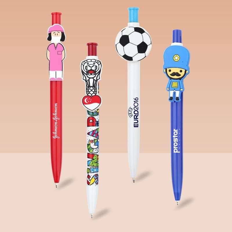 Wholesale custom  Push Ballpen with Customized Clip Novelty Pen 2