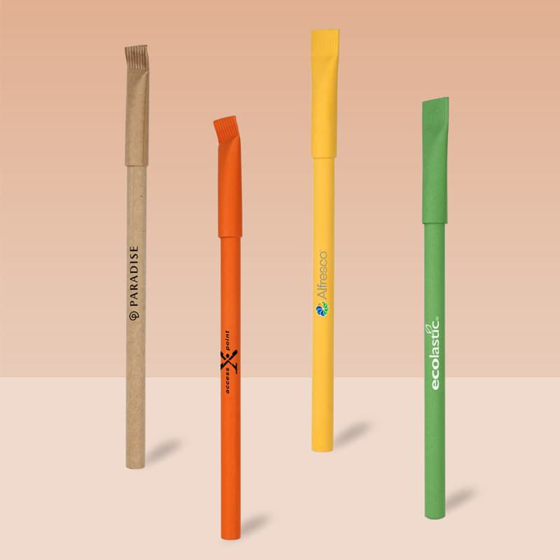 Wholesale custom  Recycled Paper Pen Green Choice 2