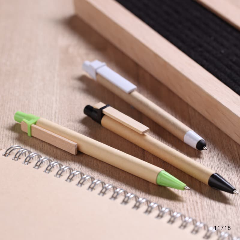 Wholesale custom  Recycled Paper Ballpen Green Choice 2