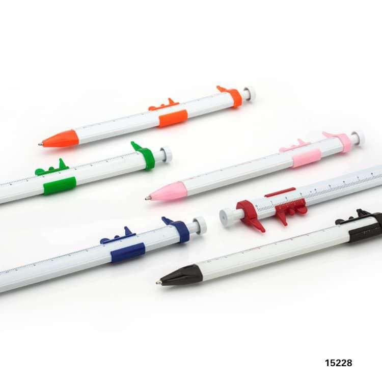 Wholesale custom  Ballpen with ruler Novelty Pen 2
