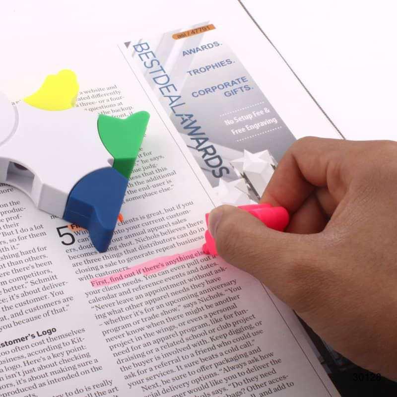 Wholesale custom  Mr.Highlighter 4-colour Highlighter 2