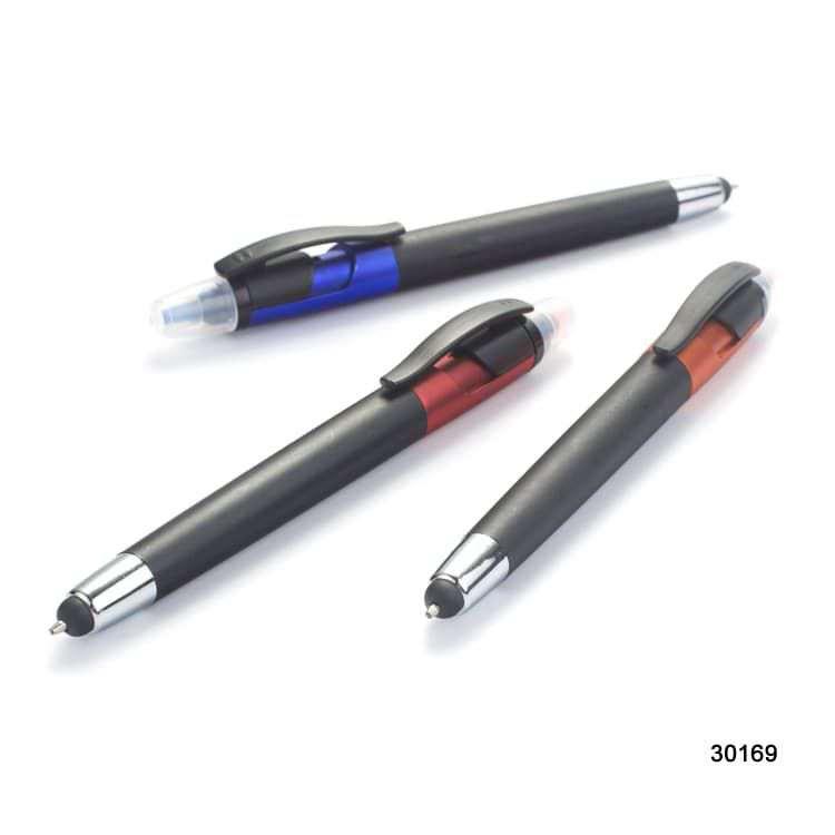 Wholesale custom  2 in 1 ballpen with highlighter Highlighter 2