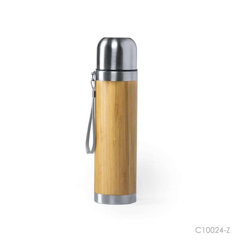 Wholesale custom  420ML Capacity Bamboo Cup Green Choice 2