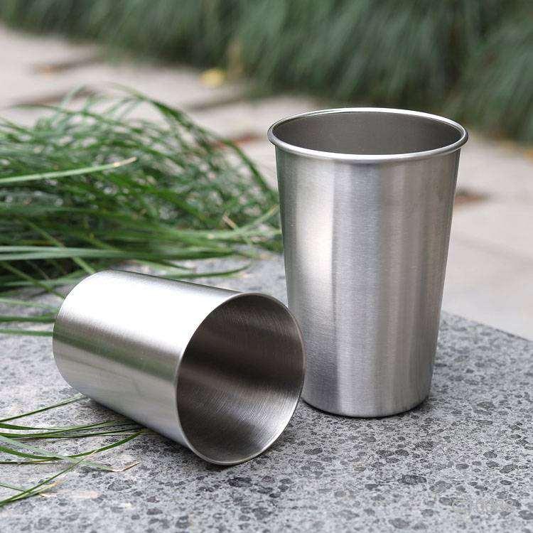 Wholesale custom  300ML Single-walled stainless steel water cup Mugs & Tumblers 2