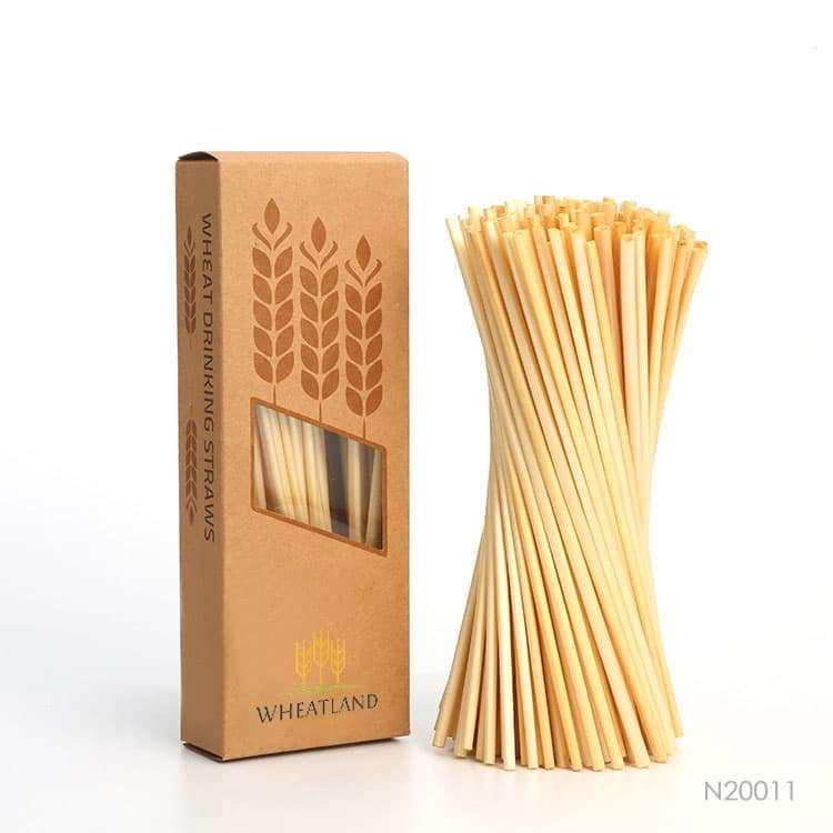 Wholesale custom  Eco-friendly Wheat Drinking Straw Accessory