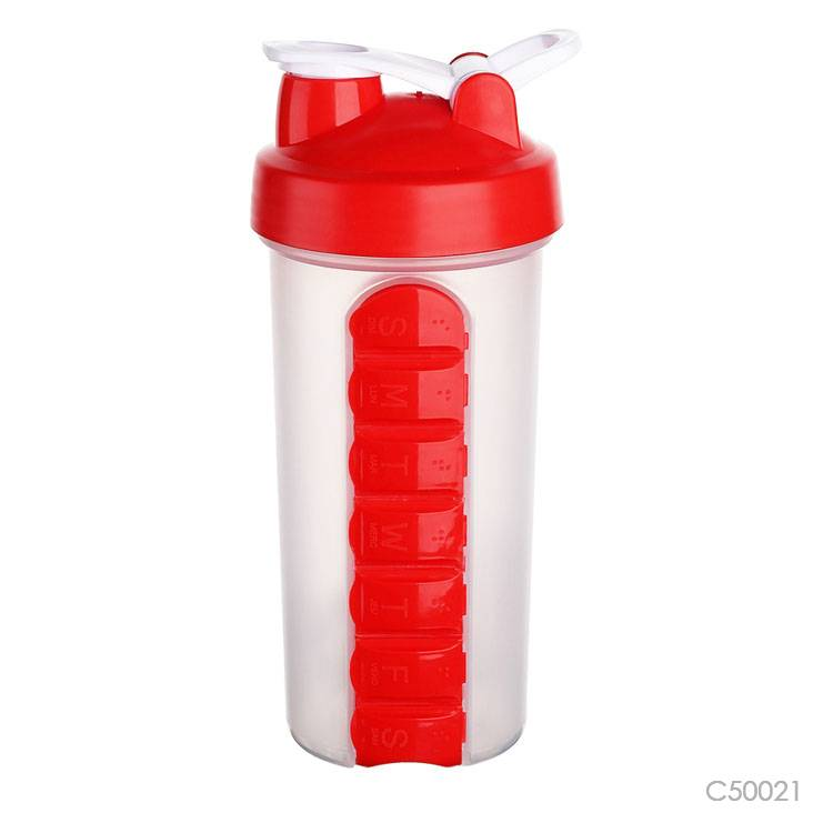 Wholesale custom  700ML Water bottle with pillbox Water Bottles 2
