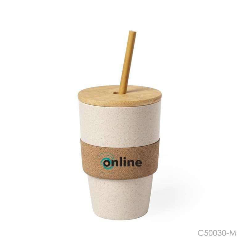 Wholesale custom  450ML Bamboo Fiber Cup Bamboo
