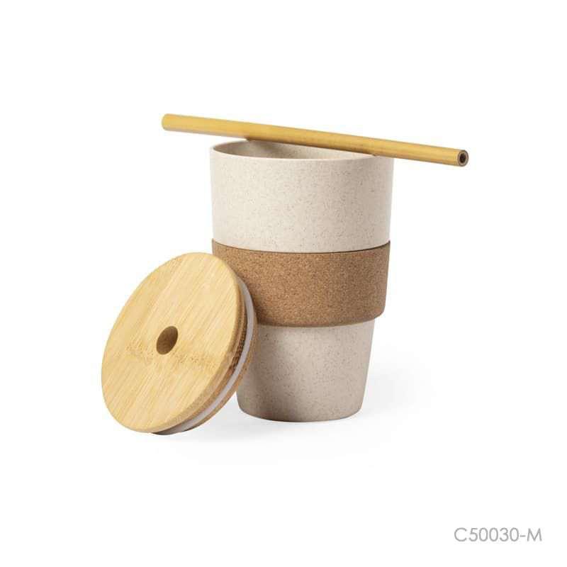 Wholesale custom  450ML Bamboo Fiber Cup Bamboo 2