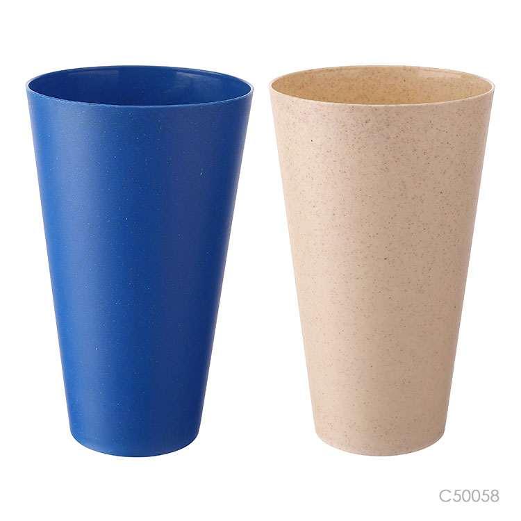 Wholesale custom  550ML Bamboo firber &PP cup Green Choice 2