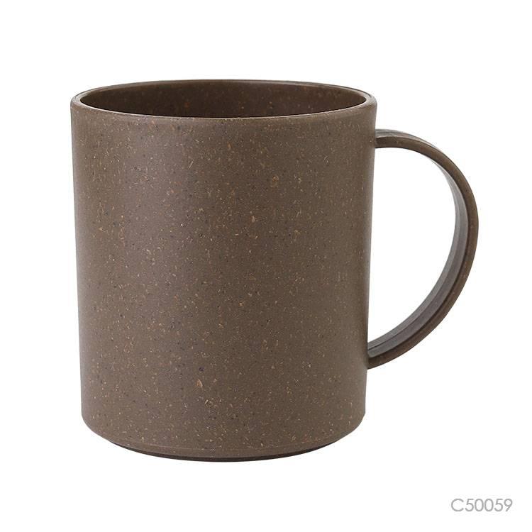 Wholesale custom  320ML Bamboo fiber &PP mug Green Choice 2