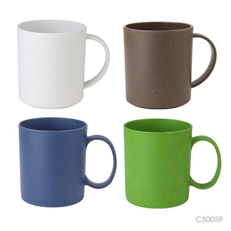 Wholesale custom  320ML Bamboo fiber &PP mug Green Choice 5