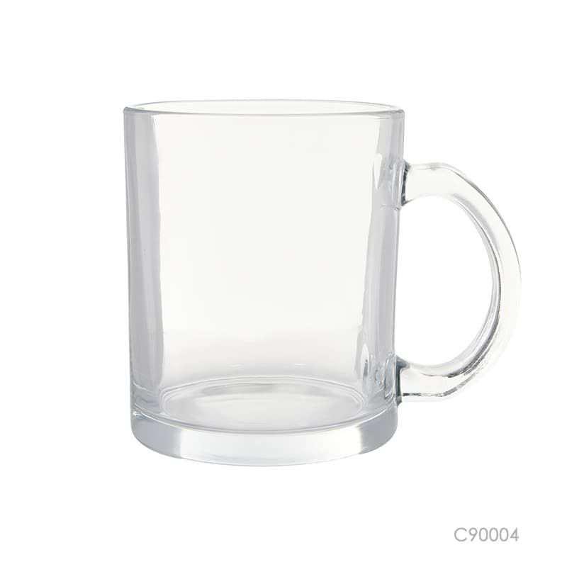Wholesale custom  380ML Clear Glass Mug Glasseware 2