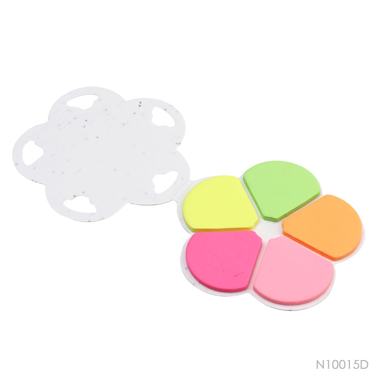 Wholesale custom  Growing Paper Flower Shape Cover Sticky Note Notepads 2