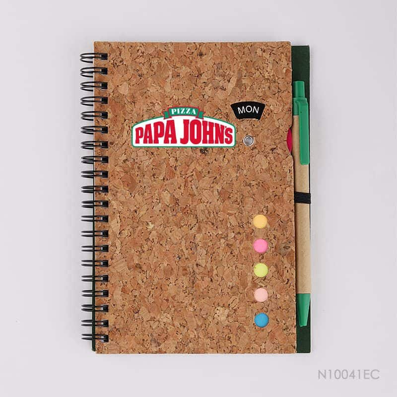 Wholesale custom  Notepad with Pen Cork