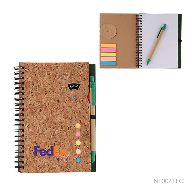 Wholesale custom  Notepad with Pen Cork 2