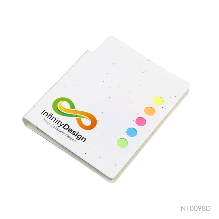 Wholesale custom  Growing Paper Cover Sticky Notepad with Pen Notepads 2