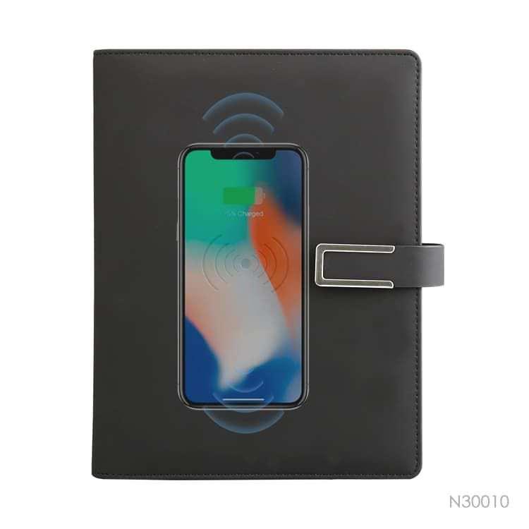 Wholesale custom  Portfolio with Power Bank Notebooks