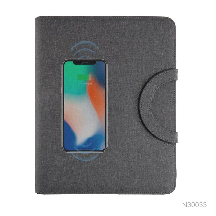 Wholesale custom  A4 Business Portfolio with Power Bank Notebooks