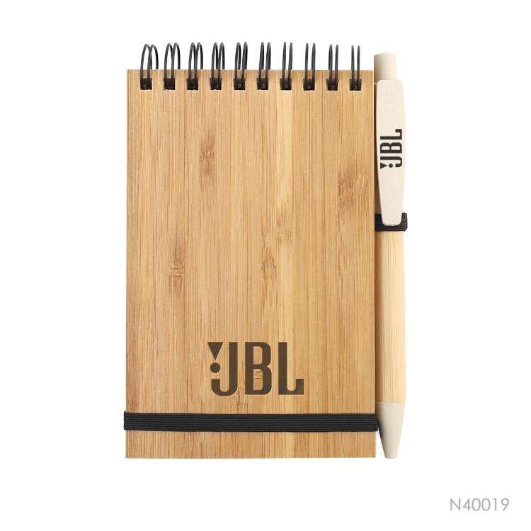 Wholesale custom  Bamboo cover notebook Bamboo