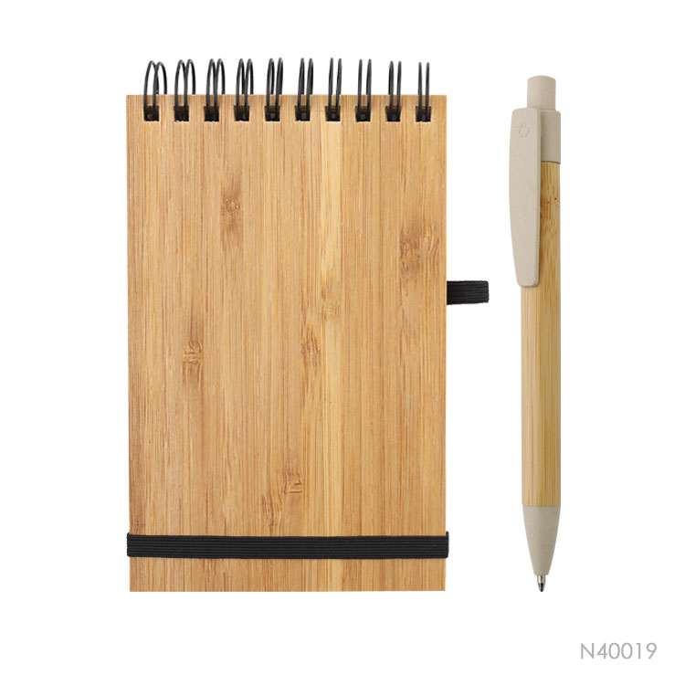 Wholesale custom  Bamboo cover notebook Bamboo 2