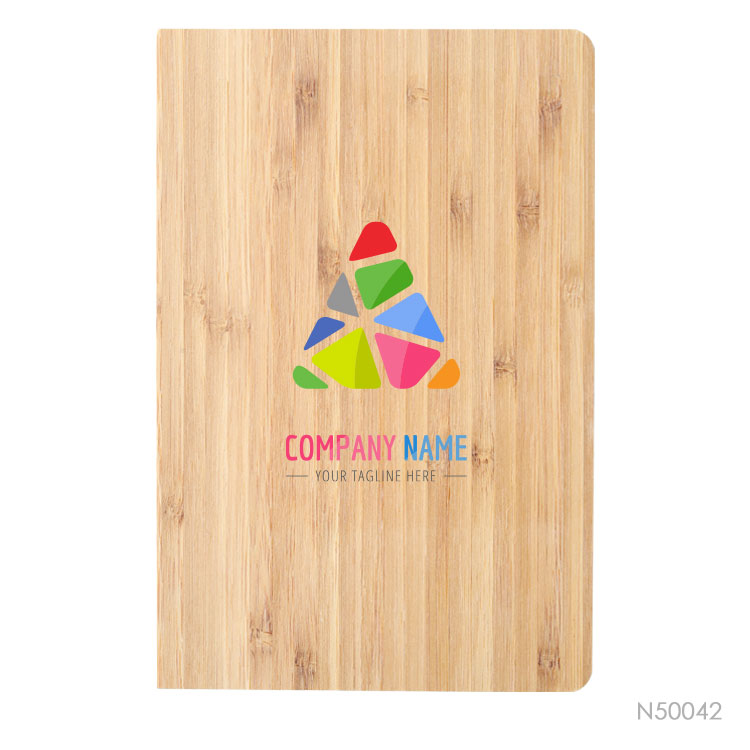 Wholesale custom  Notebook with bamboo cover Bamboo