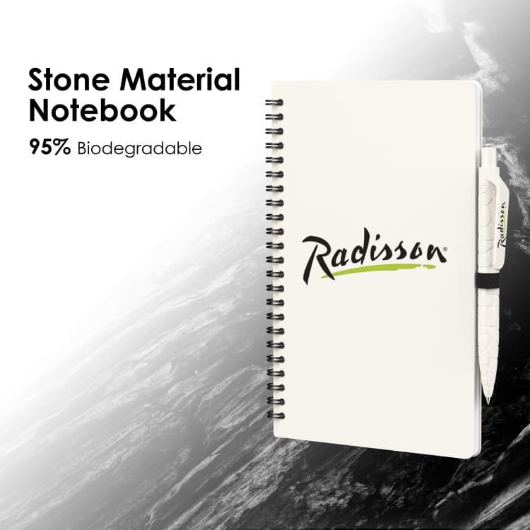 Wholesale custom  Stone Material Notebook Green Choice 2