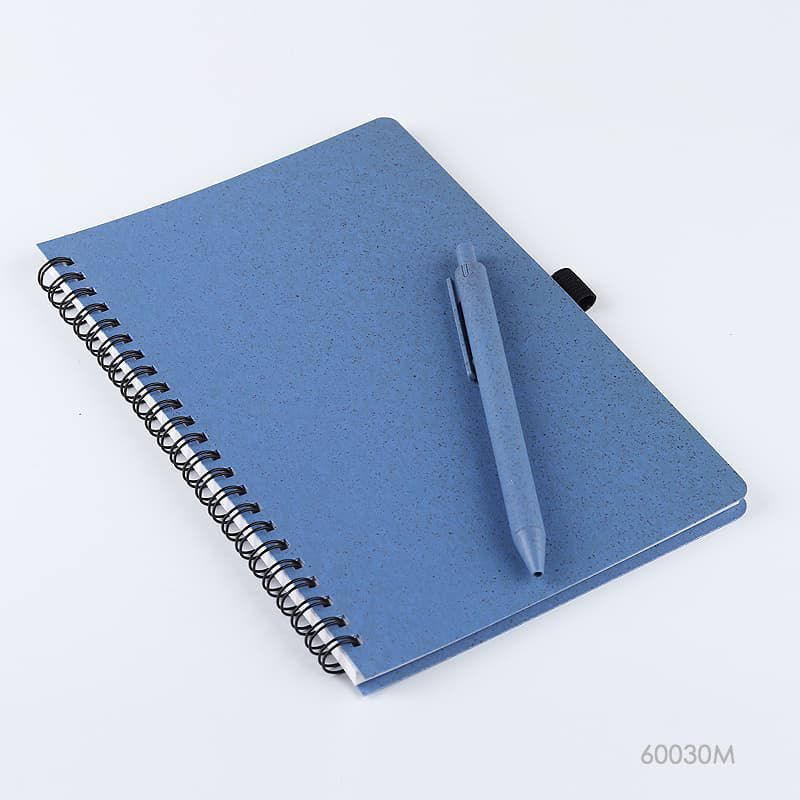 Wholesale custom  Notebook with Wheat Straw Cover Green Choice 2