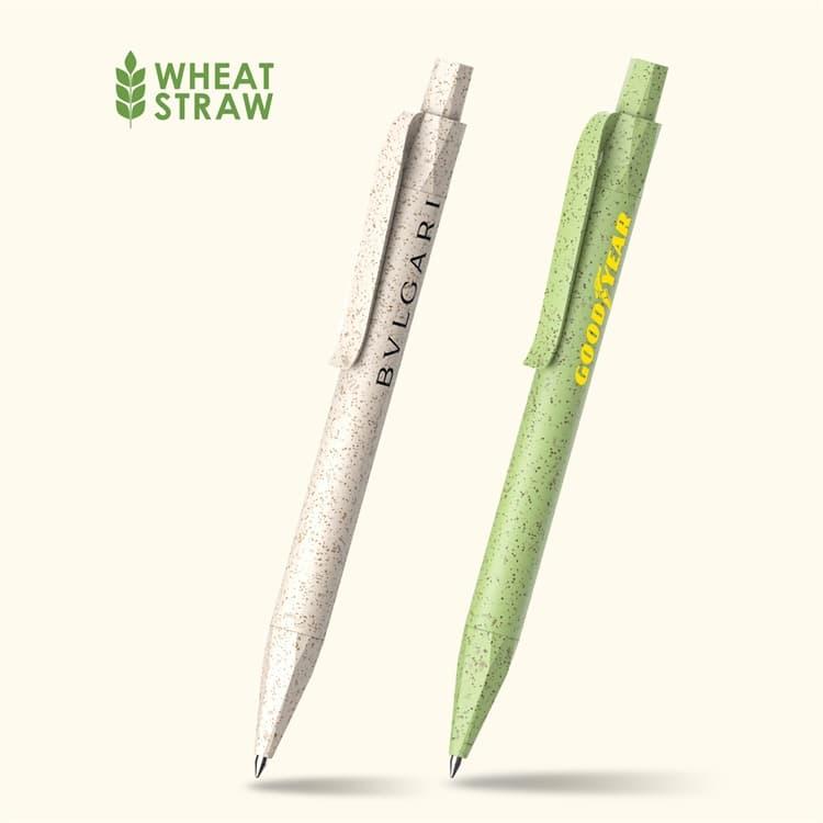Wholesale custom  Click action wheat straw ballpen Wheat Straw