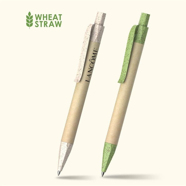 Wholesale custom  Recycled paper and wheat straw ballpen Wheat Straw