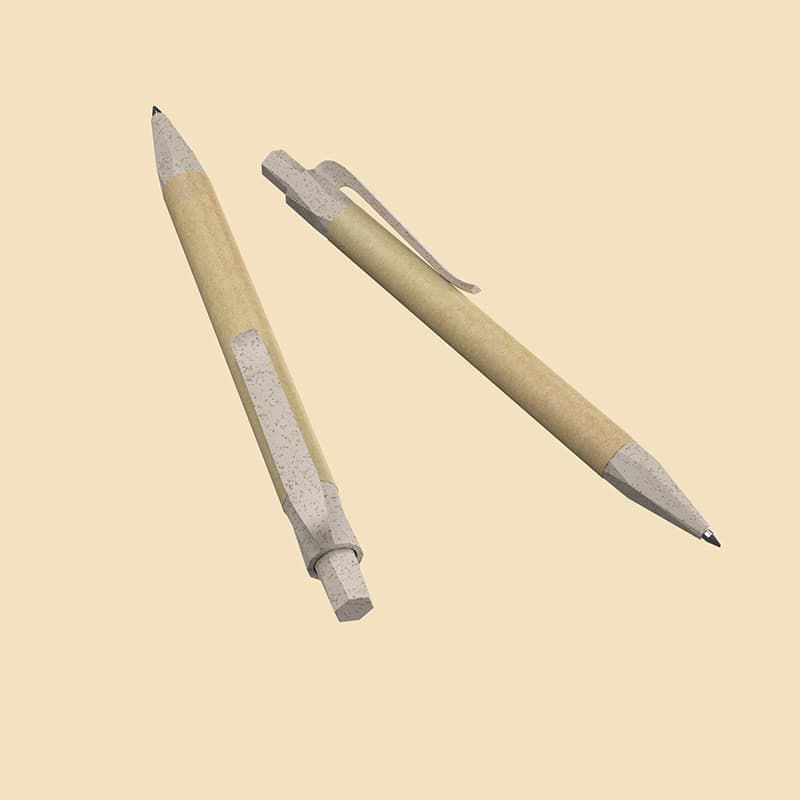 Wholesale custom  Recycled paper and wheat straw ballpen Wheat Straw 2