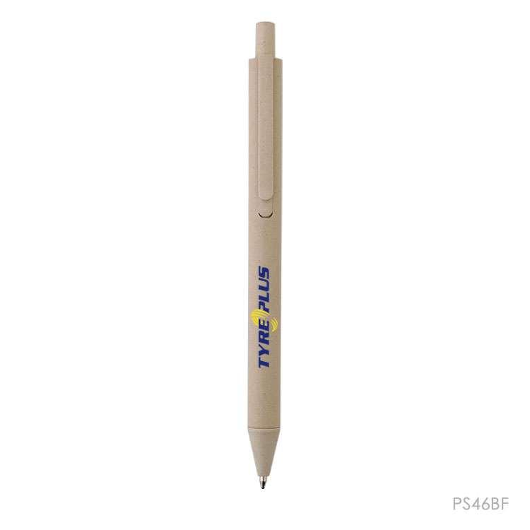 Wholesale custom  Bamboo fiber ball pen Bamboo