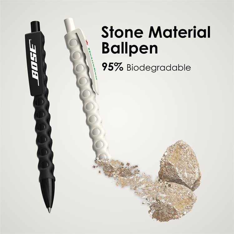 Wholesale custom  Stone Material Ballpen Nature Stone