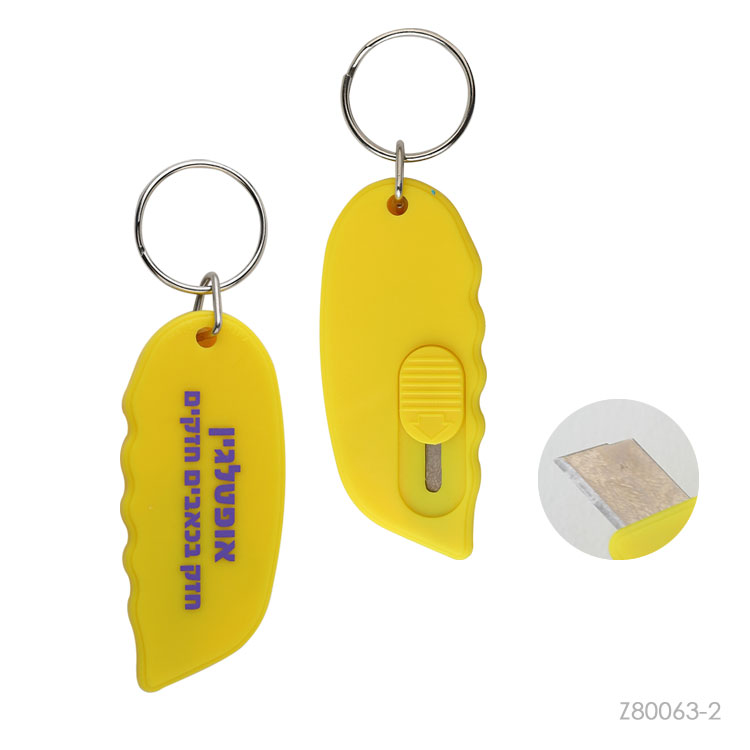 Wholesale custom  Plastic letter opener with keyring Premiums