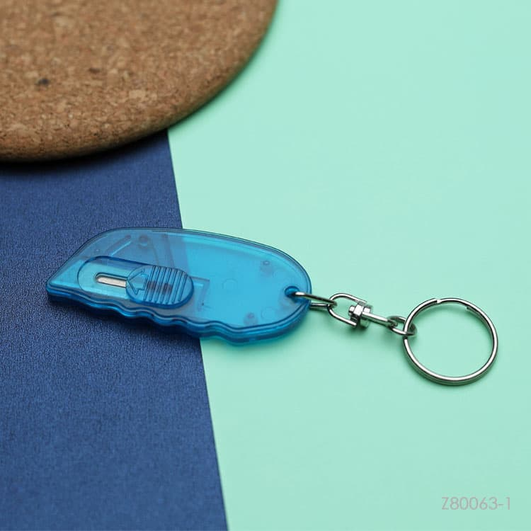 Wholesale custom  Plastic letter opener with keyring Premiums 2