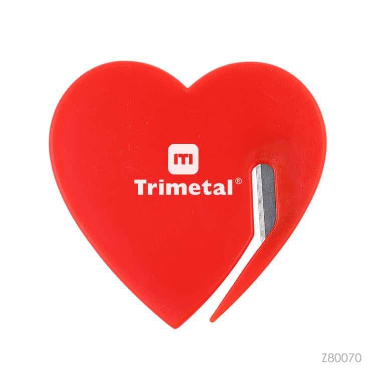 Wholesale custom  Heart shape plastic letter opener Premiums