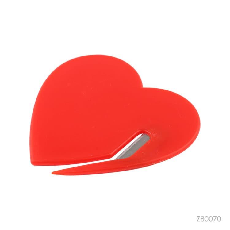 Wholesale custom  Heart shape plastic letter opener Premiums 2