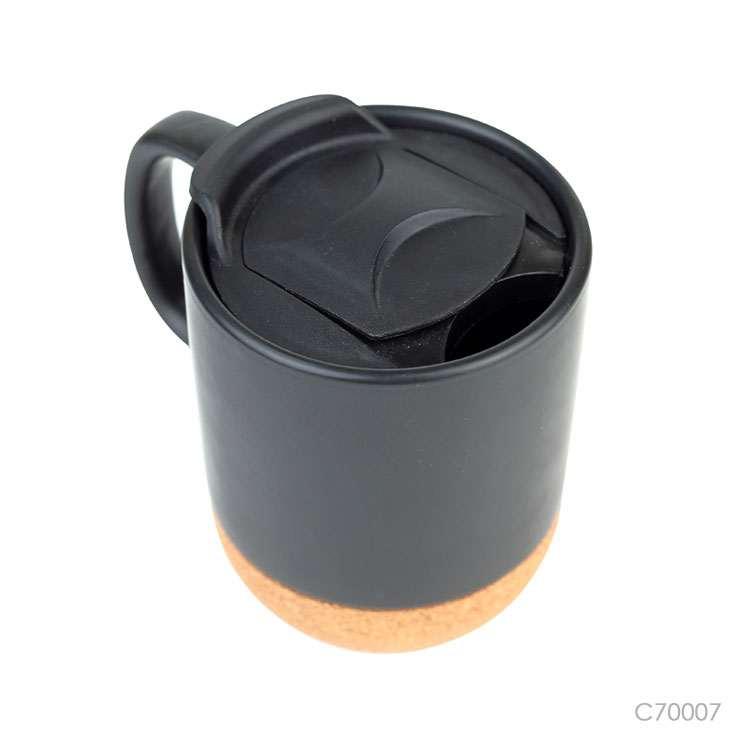 Wholesale custom  380ML Ceramic mug with cork base Drinkware 3