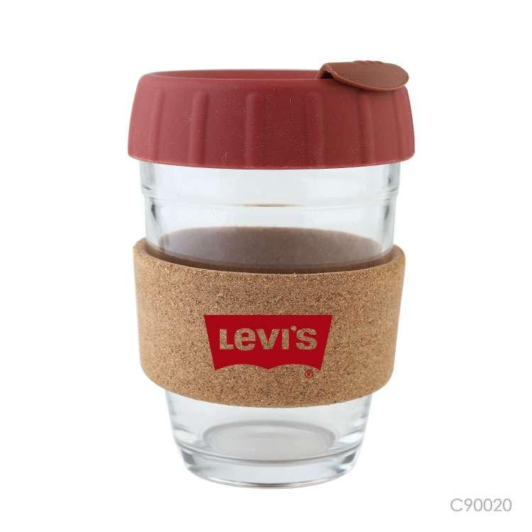 Wholesale custom  420ML Glass bottle with bamboo lid Drinkware 2