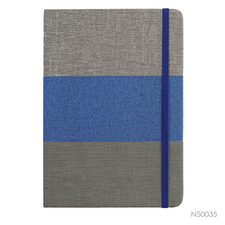 Wholesale custom  Notebook With PU Splicing Hardcover Notebooks 2