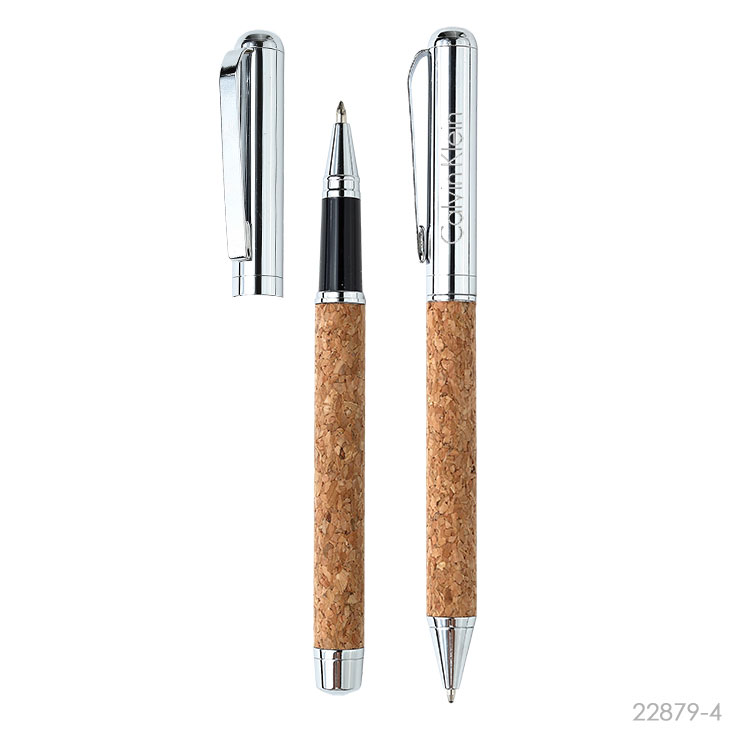 Wholesale custom  Cork Metal Ballpen& Roller pen Cork