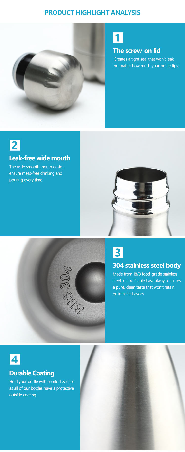 Wholesale custom  260ML Double-walled vaccum bottle Water Bottles 45