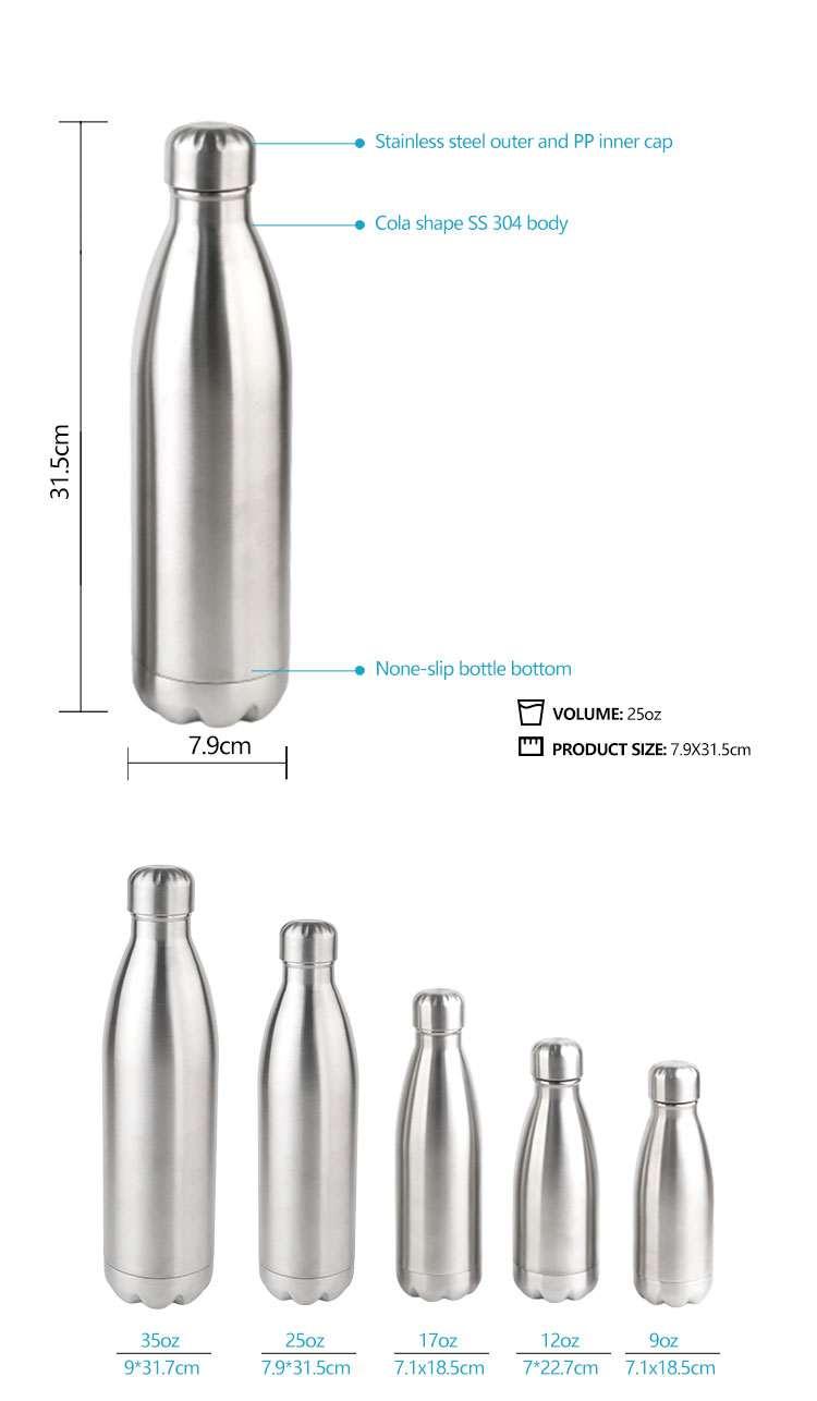 Wholesale custom  260ML Double-walled vaccum bottle Water Bottles 53