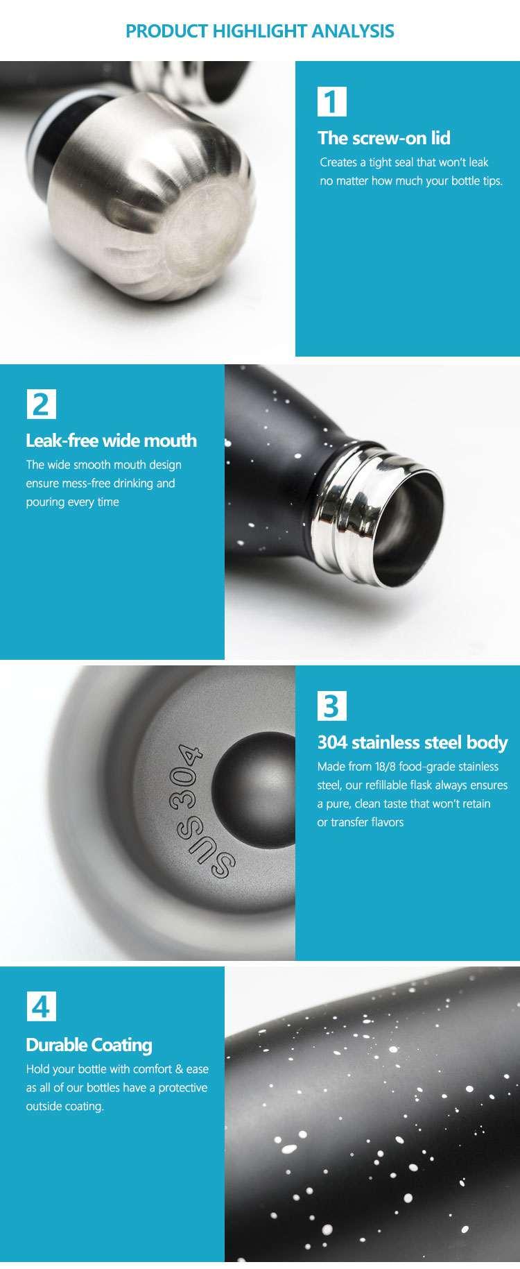 Wholesale custom  260ML Double-walled vaccum bottle Water Bottles 60