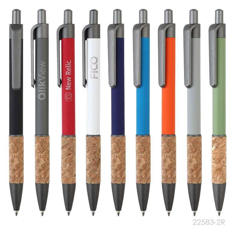 Wholesale custom  Aluminium with cork grip pen Cork