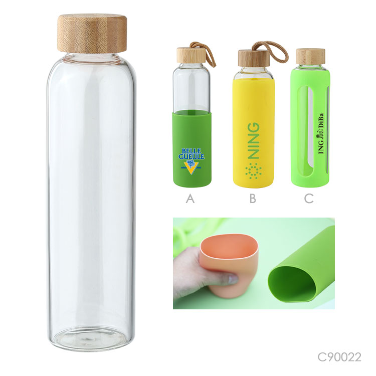 Wholesale custom  550ML Glass water bottle Drinkware