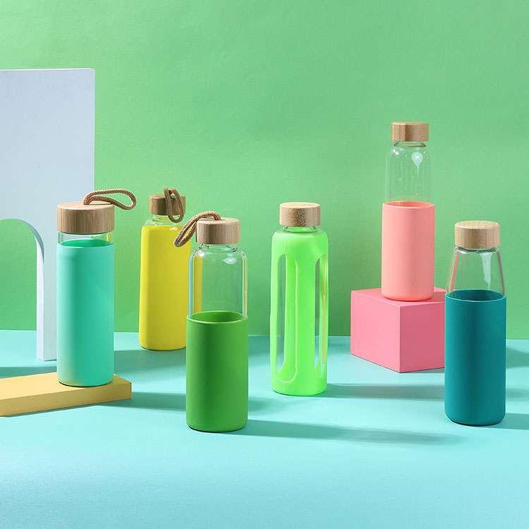 Wholesale custom  550ML Glass water bottle Drinkware 2