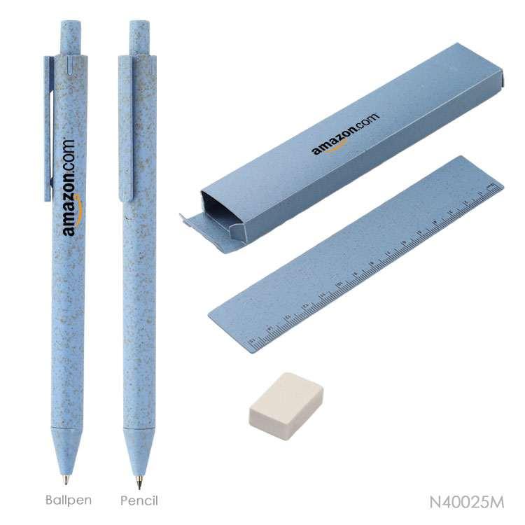 Wholesale custom  Wheat Staw Pen Set Green Choice